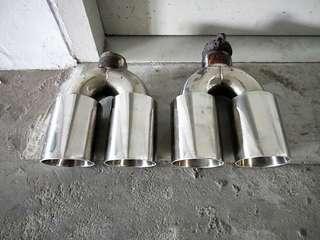 Quad exhaust tip