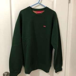 Supreme Green contrast small box crewneck