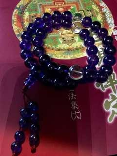烏拉圭AAA級天然紫水晶念珠11mm