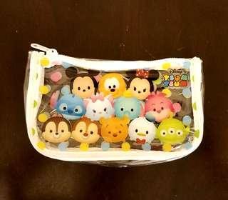 👍全新 Disney Tsum Tsum 透明化妝袋/筆袋
