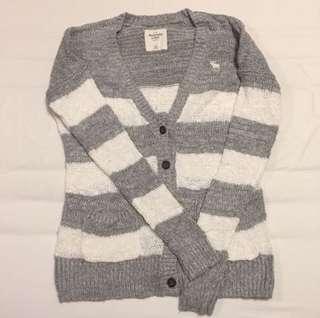 Abercrombie & Fitch A&F 條紋針織外套