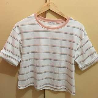 Pastel stripes korean shirt