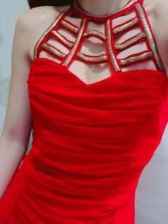 Party red dress 性感小紅裙 聖誕裙 飲宴裙