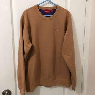 Supreme small box crewneck beige x purple