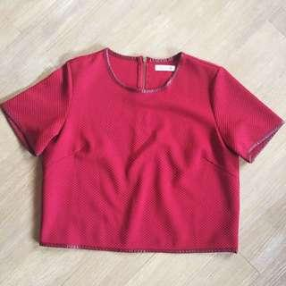 * High Quality Red Crop Top