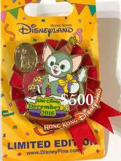 Disney Pin 迪士尼徽章襟章 Walt 生日 Gelatoni Pin
