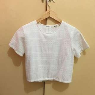 White croptop with back buttons