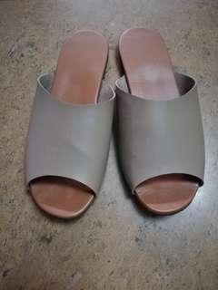Mocha Slip-ons Size 8