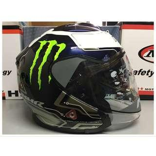 Helmet MHR OF521 Bluetooth  Double Visor Starex Rolezon Maliblue