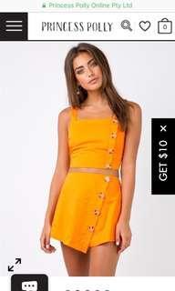 Princess polly orange set