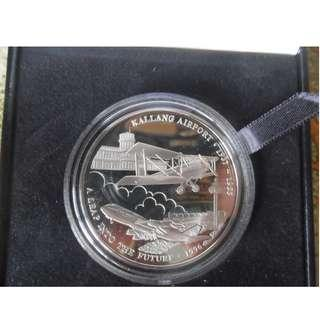 1996 Singapore Asian Aerospace Silver Proof Medallion