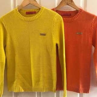 BUNDLE • Arnold Palmer Knit Sweater S-M / Yellow / Orange