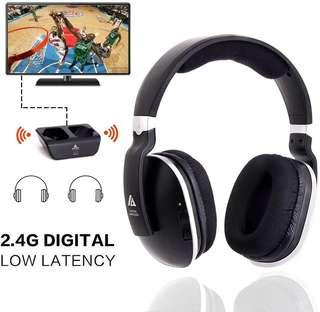 Monitor hifi level wireless headset Wireless TV Headphones Over Ear Headsets - Digital Stereo Headsets with 2.4GHz RF Transm