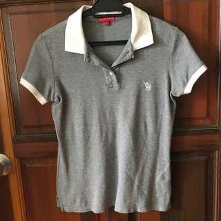 Padini Authentics Grey & White Polo Shirt