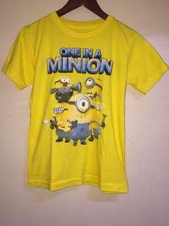 Minion shirt never used not auth from universal
