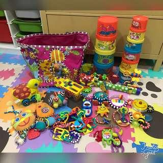 Baby Toys and Storage Bag Bundle