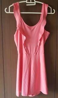 🚚 H&M Seyback pink romper