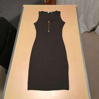 SUPRE Ribbed Khaki Dress