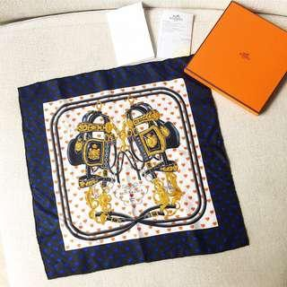 🆕AUTHENTIC HERMES Pocket Square Scarf 45 - with original receipt