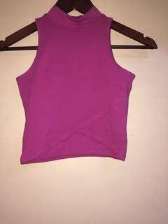 Never used terranova crop top bright plum colour
