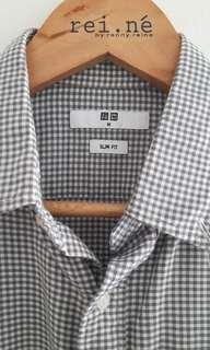 Uniqlo Grey Slim Fit Shirt