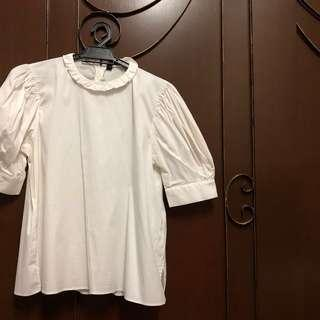 Zara top with puffed sleeves