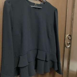 Zara peplum top
