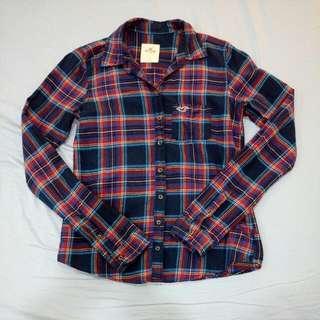 Hollister格子長袖襯衫