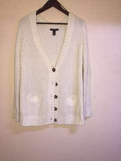 Forever 21 sweater cardigan with elbow pads