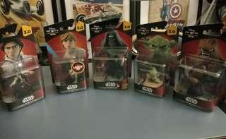 Disney infinity 3.0 starwars set of 5