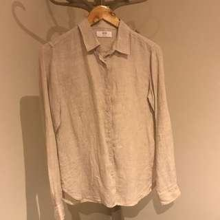 UNIQLO 100% linen shirt sz Small