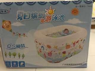 Inflated baby pool