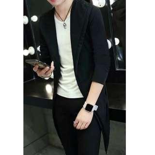 🔥Long Hoodie Jacket Men Women Unisex Korean Fashion🔥