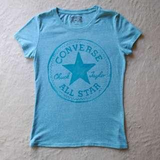 Women's Turquoise Converse T-shirt