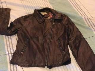 Synthetic leather riders jacket