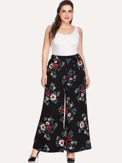 Plus size Terno floral pangs & white top