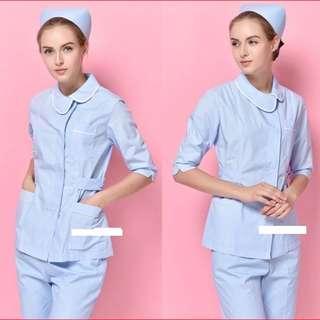 全新 護士制服 (M 中碼- 全新 / L 大碼 - 9成新 $80) 中袖套褲