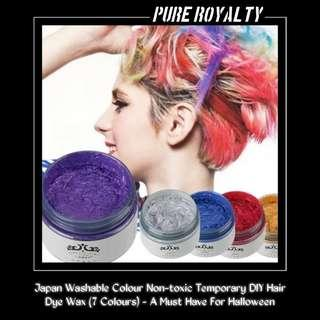 Japan Washable Colour Non-toxic Temporary DIY Hair Dye Wax (7 Colours) - A Must Have For Christmas