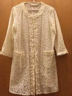 🚚 日本別緻高雅的外罩長版衣