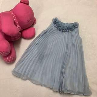 Monsoon London Pleated Chiffon Dress