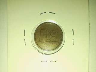 Coin, Rare Malaysian 1970 1¢ Coin