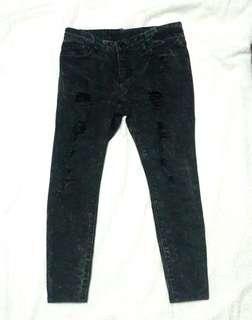 Black Torn Pants
