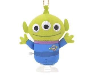 Disney Toy Story Alien key Chain 上鍊會走動的三眼仔公仔吊飾