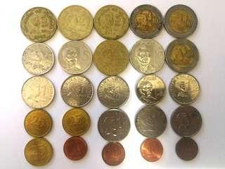 Coins Philippines pesos 25 pcs