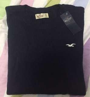 全新Hollister深藍色冷衫