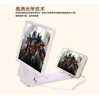 手機 螢幕 放大器 放大鏡 3倍放大 黑白2色 手機屏幕放大座 第二代 有喇叭