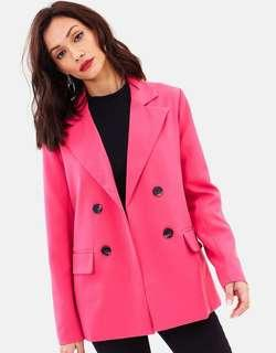 The Iconic Pink Blazer With Shoulder Pads - UK10 - BRAND NEW with tags