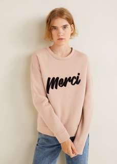 Brand new with tags Mango 'Merci' sweater, size S