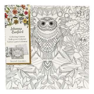 "JOHANNA BASFORD Colouring Canvas Secret Garden Canvas painting with Patterns 30cm*30cm/12""*12"""