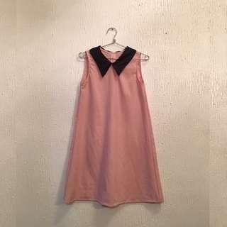 UNBRANDED Sleeveless Dress with Collar